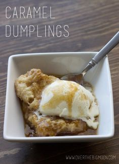 Caramel Dumplings - Simple dumpling recipe that creates a delicious caramel sauce. Best part it only takes the most basic of ingredients.