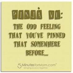 """PinJa Vu"" from @Susan & Janice (5 Minutes For Mom)"