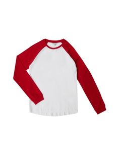 REVIEW-FOR-TEENS Longsleeve mit Kontrastärmeln in Rot online kaufen (9485961)   P&C Online Shop