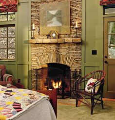 this stone actually looks warm and inviting! plus the article has tips on starting a fire.