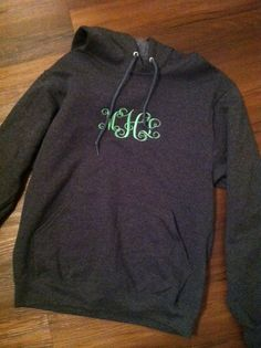 MONOGRAM HOODIE , Greek Embroidery Available. $38.50, via Etsy.