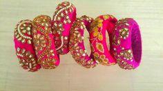 zardsoi work bangles