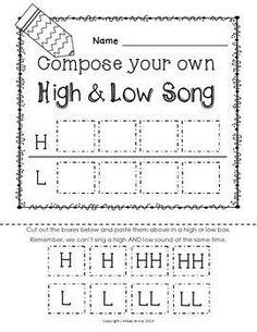 HIGH AND LOW {READY SET PRINT!} - TeachersPayTeachers.com