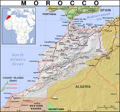worldofmaps net africa maps of morocco map of morocco political map