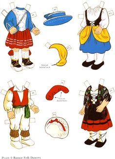 The Paper Dolls of Laura: Paulette y Pierre para vestir con trajes tipicos franceses Folk Costume, Costumes, French Boys, Paper Toys, Pattern Art, Coloring Books, Boy Or Girl, Clip Art, Dolls