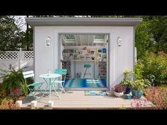 A playhouse for Ava and exercise room for me :-) She Sheds: Plans for How to Build & Customize - YouTube