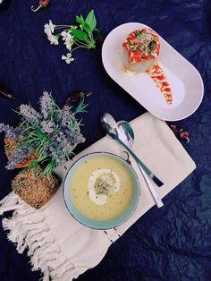 Supa crema de telina si ardei umpluti #takeaway #catering #delivery #vegetarian #rawvegan #manancasanatos