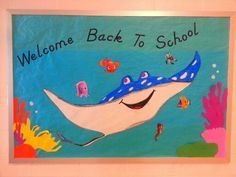 Finding Nemo bulletin board ideas and many, many more. Ocean Bulletin Board, Disney Bulletin Boards, Summer Bulletin Boards, Back To School Bulletin Boards, Preschool Bulletin Boards, Preschool Classroom, Classroom Themes, Turtle Classroom, Classroom Board