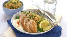 Kyllingfilet med sitron- og squashcouscous - Rask - Oppskrifter - MatPrat
