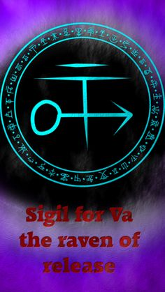 Sigil for Va the raven of release This is one of the Ravens of antimony: http://wolfofantimonyoccultism.tumblr.com/post/145294353856/the-ravens-of-antimony-is-an-alphabet-of-desire Raven Of Release: • Name: VA • Pronunciation: [Vah] • Gender:...