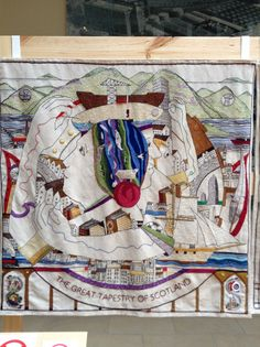 Panel from the Great Tapestry of Scotland
