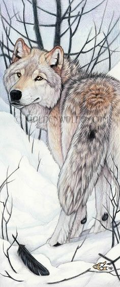 """Wolf's Calling""; Traditional Art"