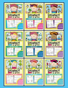 """Writing Activities - Sequence and Write Bundle - Visual TextsThis is a bundle of 9 of my """"Sequence and Write' packets.It is a 'complete' bundle and no more packets will be added. Each packet of resources will help your students understand the 'Visual Knowledge' in texts."""