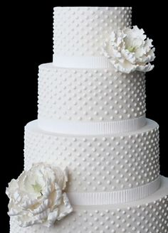 Swiss dot wedding cake...love! But with some color on it