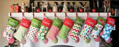 CHRISTMAS STOCKINGS 19 styles to Choose from....  Embroidered.... Personalized...Monogrammed Get a head start for 2016