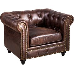 The Chesterfield Tufted Chair, Brown brings your room to life. Visit your local At Home store to purchase and find more affordable Accent Chairs. Brown Furniture, Home Furniture, Woodworking Furniture, Furniture Ideas, Spool Chair, Most Comfortable Office Chair, Tufted Chair, Cigar Room, Brown Sofa