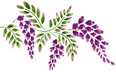 Quickly and easily create a beautiful floral design in your home with our Wisteria Painting Stencil!