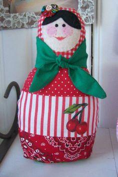matrioskas bonecas de pano tecido 100% algodão costura manual