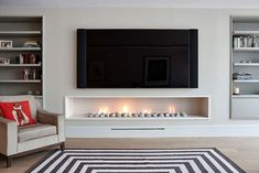 Awesome 40 Awesome Modern Fireplace Decor Ideas And Design thearchitectureho. design modern 40 Awesome Modern Fireplace Decor Ideas And Design Fireplace Modern Design, Home Living Room, Room Design, Family Room Design, Fireplace Design, Living Room Diy, Modern Fireplace, Living Room Tv Wall, Modern Fireplace Decor