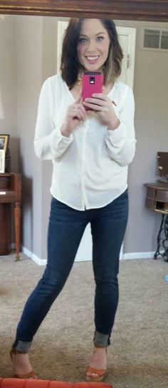 My favorite jeans at the moment - Kut From the Kloth Dayna (Mia) Skinny Jean via StitchFix