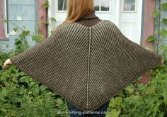 Completely free knitting patterns and free crochet patterns online. Poncho Knitting Patterns, Shawl Patterns, Crochet Poncho, Knit Or Crochet, Knitted Shawls, Knitting Help, Crochet Shawls And Wraps, Knit Picks, Capes