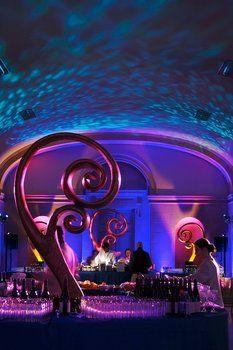 Wedding, Reception, Blue, Purple, Lighting, Got light