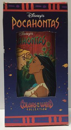 (TAS034366) - 1994 Disney Coke Glass - Pocahontas & John Smith