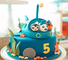 Fiesta temática de los octonautas para niños fans de la serie de animación