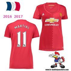Vente Nouveau Maillot Football Manchester United Femme (MARTIAL 11) Domicile…