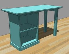 Ana White | Build a Modular Office Small Desktop | Free and Easy DIY Project and Furniture Plans