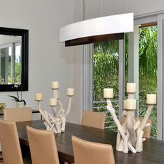 Contemporary by Onyx Development Group. Beautiful Dining Rooms, Dining Room Lighting, How To Make Light, Lighting Ideas, Dining Table, Group, Contemporary, Pendant, House