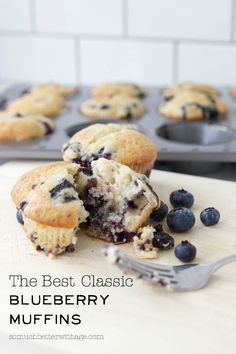 The Best Classic Blueberry Muffins | somuchbetterwithage.com
