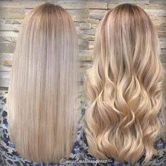 Straight or wavy? Either way, check out that blend.