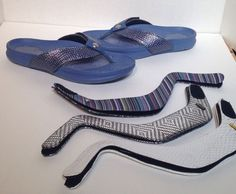 7ac35859f3b270 Tony Little Cheeks Bandals Exercise Sandals with 4 pairs Straps Size 7   Cheeks… Selling