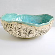 Large Urban Rustic hand built bowl 11 1/2...$74.00