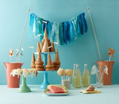 A beach theme is perfect for a summer bridal shower. Find invitations, decorations, favors, and more ideas for a party with a seaside inspired twist.