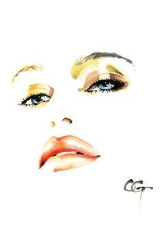 凛 RIN,COLORS 5 #OHGUSHI #Fashion_illustration #Cosmetic #portrait_painting #watercolor #japanese_ink #Bijinga #水墨画 #美人画