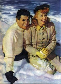 Lucy & Desi in the Snow