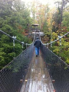 On the swinging bridge