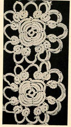 Vintage Tatting PATTERN Flower / Rose motif for by BlondiesSpot, $2.99