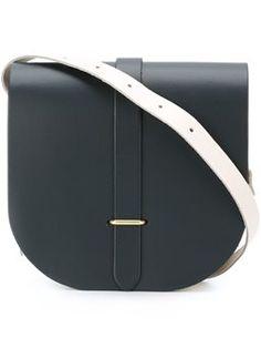 Sac à main Celine en daim monogram noir et cuir naturel