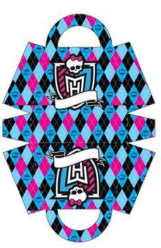 Monster High: Bolso para Imprimir Gratis.