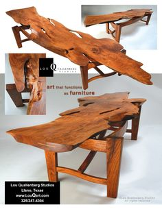 Sister Mesquite slab table by Lou Quallenberg