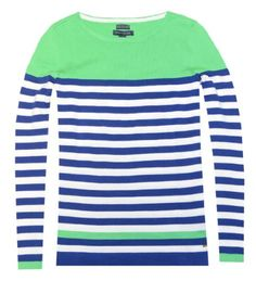 Tommy Hilfiger Women Pima Cotton Crew Neck Colorblock Logo Sweater (XS, Green/white/blue) Tommy Hilfiger,http://www.amazon.com/dp/B00IK0L8RQ/ref=cm_sw_r_pi_dp_XK5ctb1MMCKSGD5W