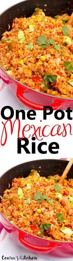 This Easy One Pot Mexican Rice is a regular meal around here and such a family favorite! SO simple, versatile + tasty!! #mexicanfood #healthy #vegan #glutenfree