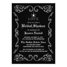 Halloween Bridal Shower Invitation Wording