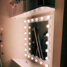 Vanity mirror with lights Makeup mirror Hollywood vanity Hollywood Mirror With Lights, Hollywood Vanity Mirror, Mirrors For Makeup, Makeup Mirror With Lights, Mirror Buffet, Mirror Mirror, Love My Makeup, Rustic Wine Racks, Royal Furniture