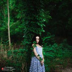 OKeyteam, арт, коллаж, портретная фотография, девушка, темные волосы, свет, портрет, фэшн, платье, зелень, плющ. www.okeyteam.com
