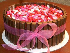 Pink M&M Cake with choko