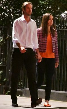 The couple were seen enjoying a casual walk around London together.